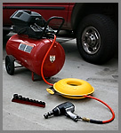 Cordpro XL being used on an air compressor hose