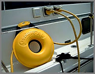 Cordpro Xl being used for shorepower cables on boat